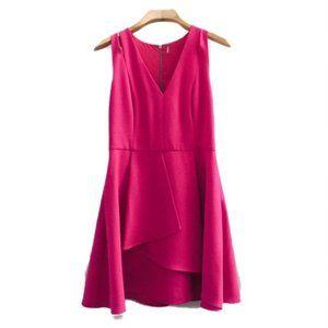 ♡Fit & Flare T-back Cocktail Dress   Hot Pink, 12